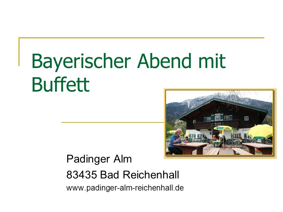 Bayerischer Abend mit Buffett
