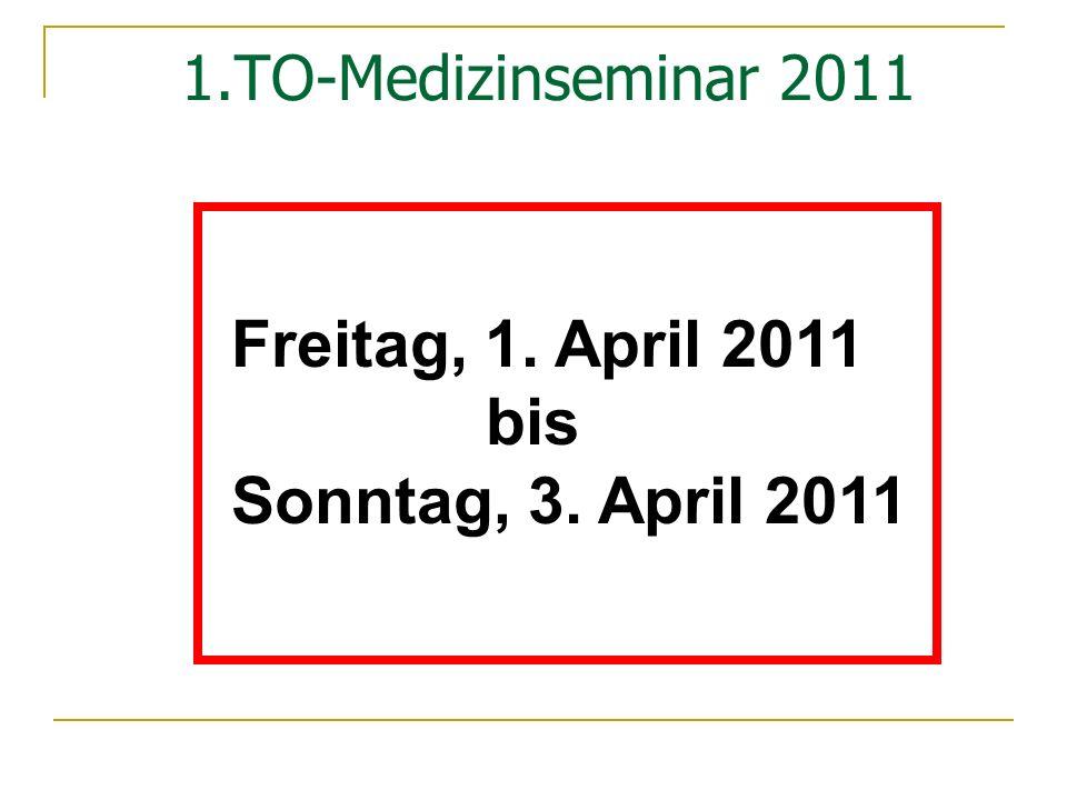 Freitag, 1. April 2011 bis Sonntag, 3. April 2011