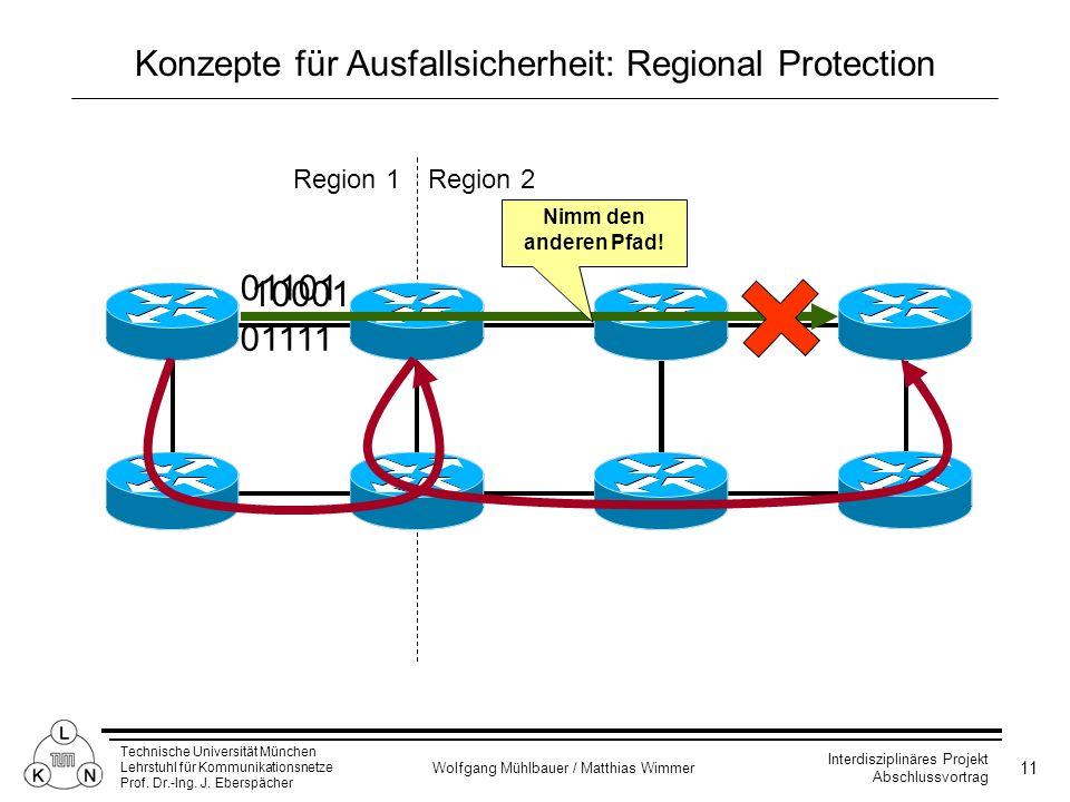 Konzepte für Ausfallsicherheit: Regional Protection