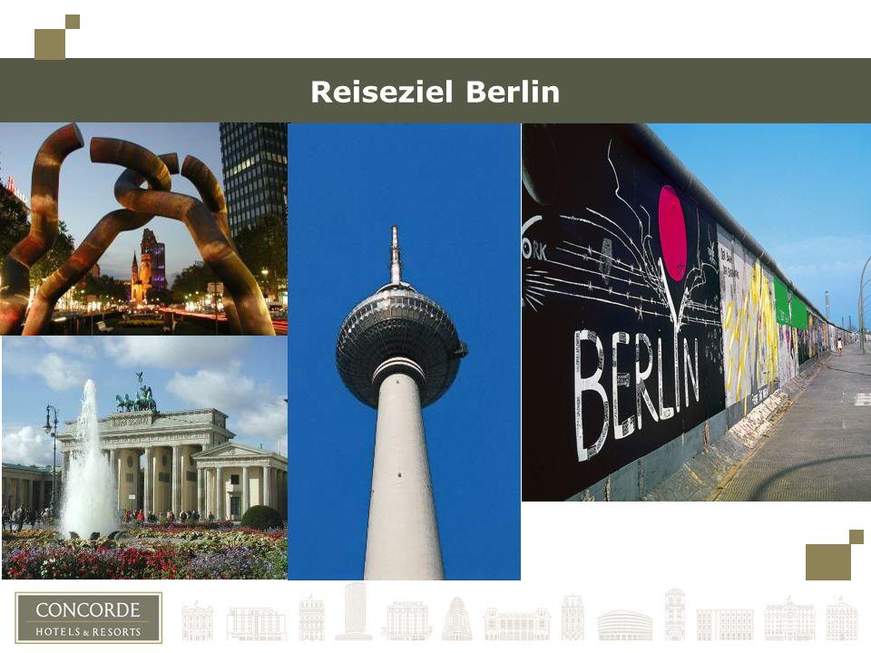 Reiseziel Berlin Bitte links immer einen Rand lassen (bis zu den Quadraten oben links), für den Fall, dass die Präsentation gebunden wird.