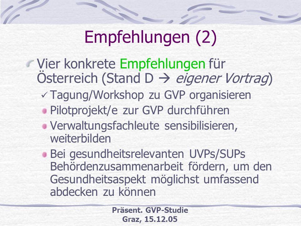 Präsent. GVP-Studie Graz, 15.12.05