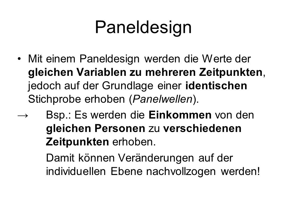 Paneldesign
