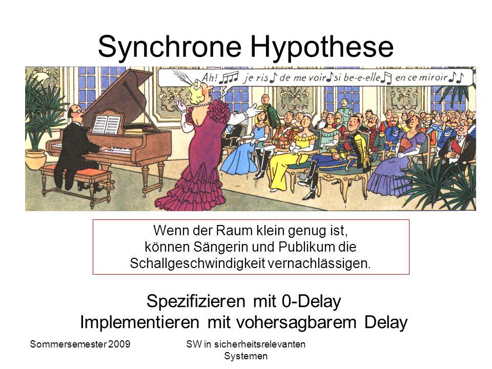 Synchrone Hypothese Spezifizieren mit 0-Delay