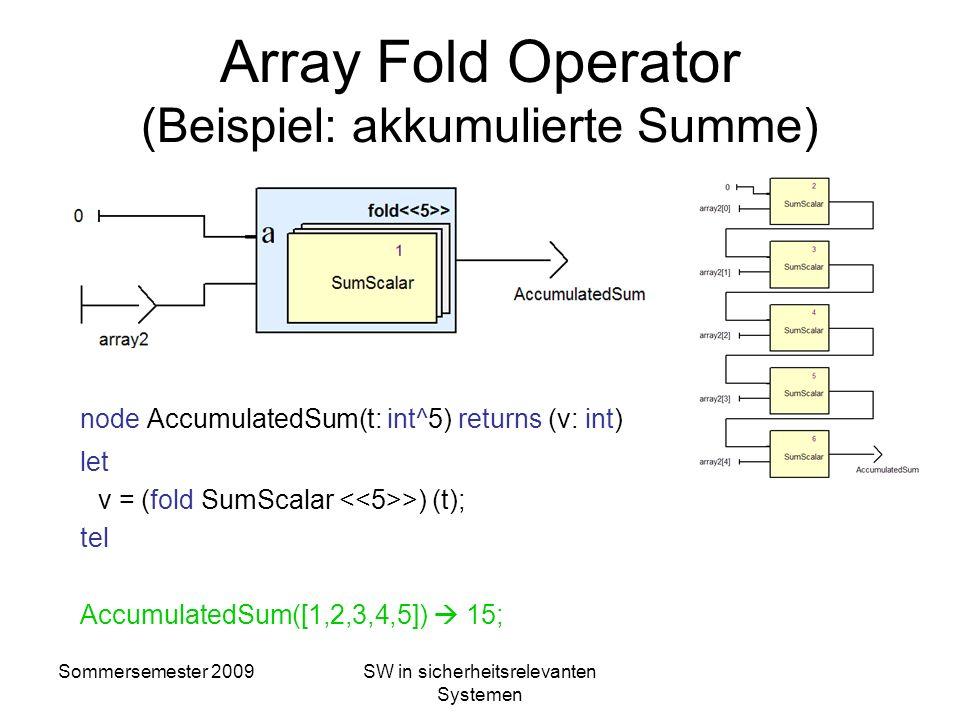 Array Fold Operator (Beispiel: akkumulierte Summe)