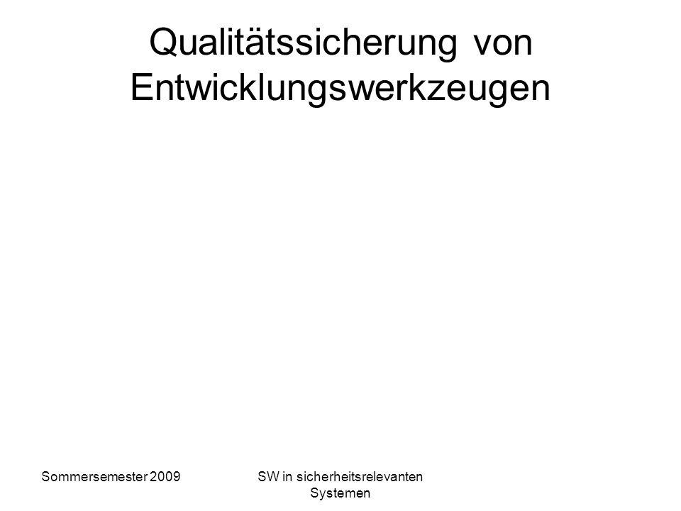 Qualitätssicherung von Entwicklungswerkzeugen