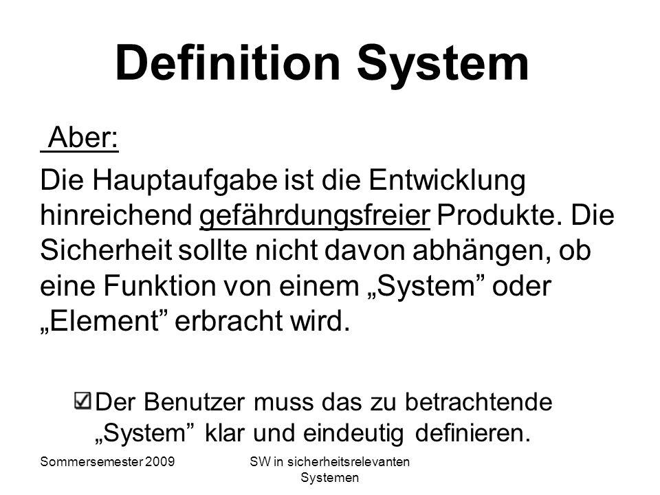 SW in sicherheitsrelevanten Systemen