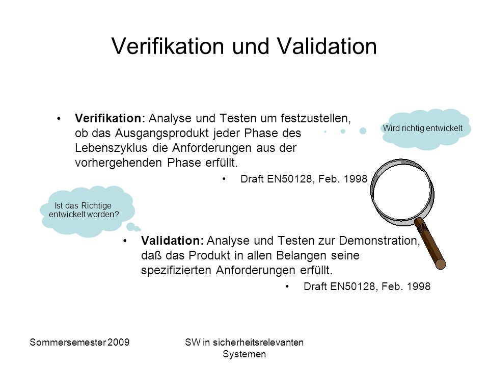 Verifikation und Validation