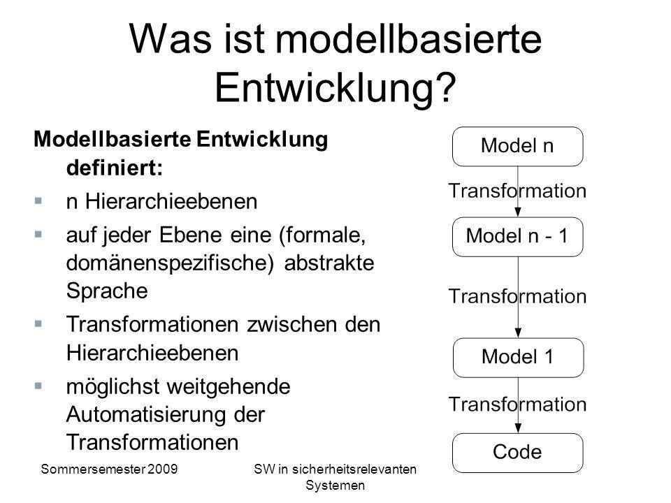 Was ist modellbasierte Entwicklung