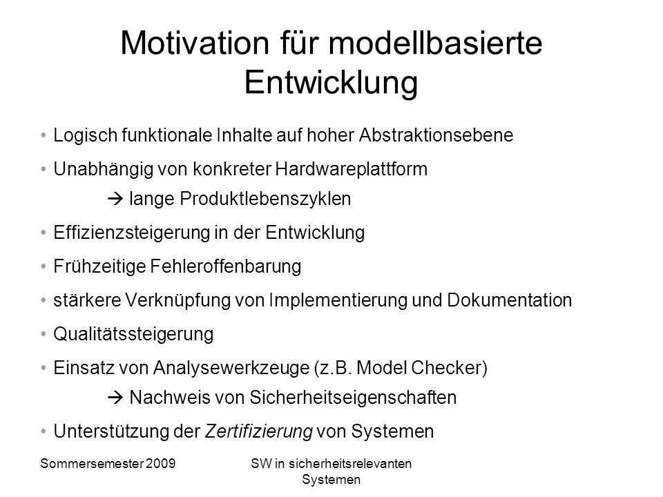 Motivation für modellbasierte Entwicklung