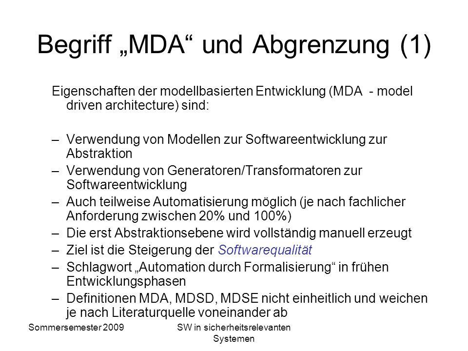 """Begriff """"MDA und Abgrenzung (1)"""
