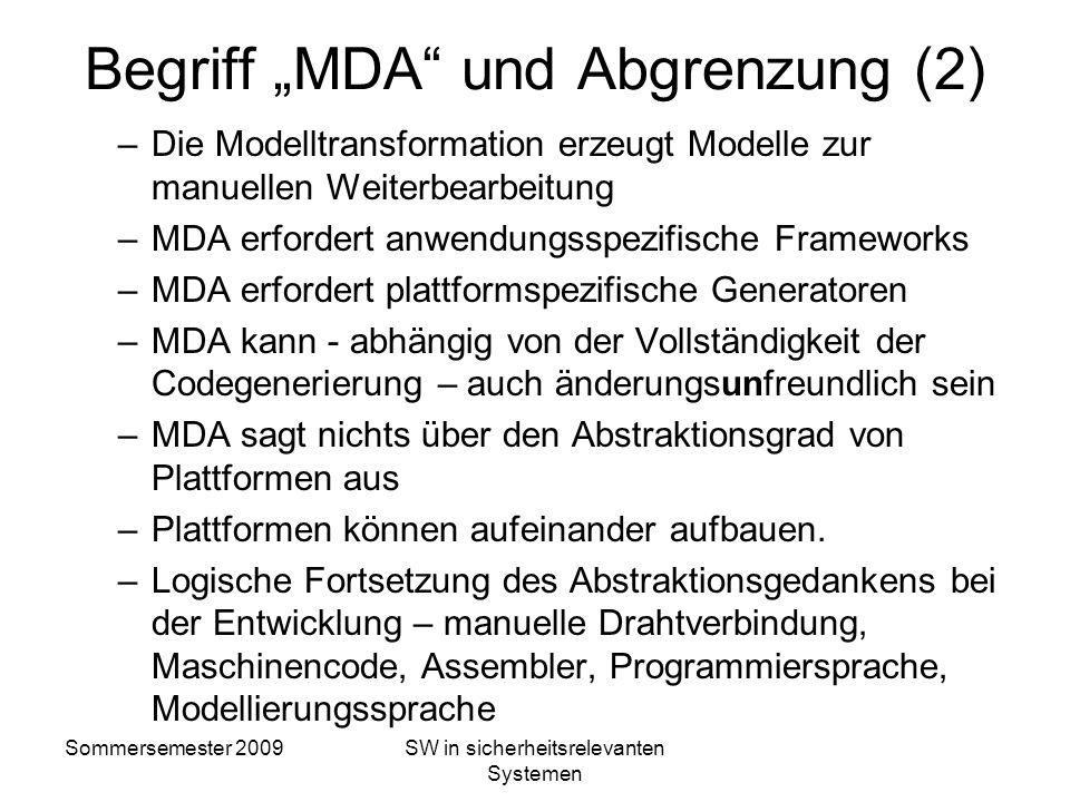 """Begriff """"MDA und Abgrenzung (2)"""