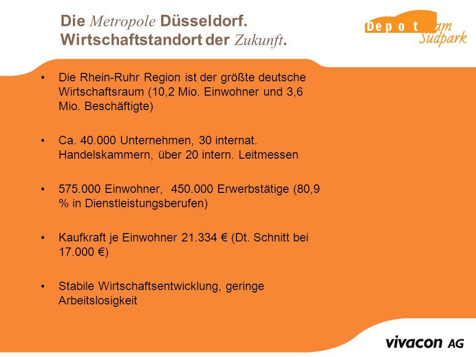 Die Metropole Düsseldorf. Wirtschaftstandort der Zukunft.