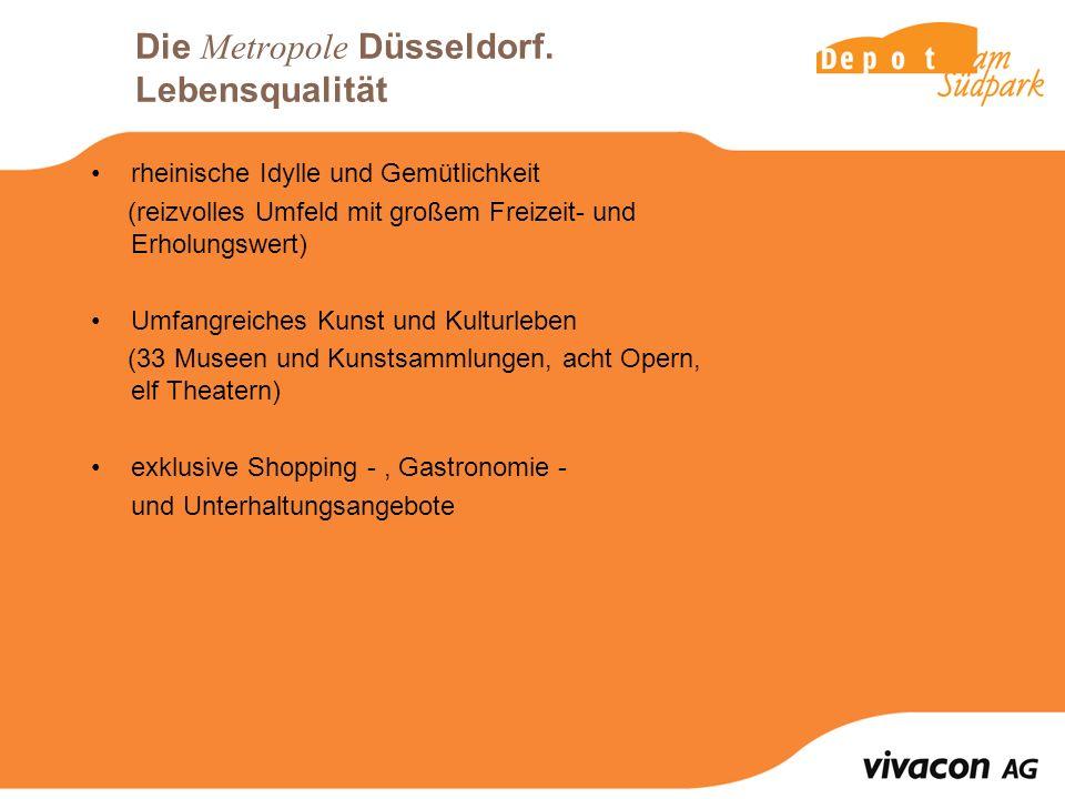 Die Metropole Düsseldorf. Lebensqualität