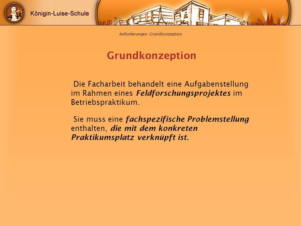 Anforderungen: Grundkonzeption