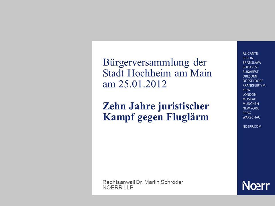 Bürgerversammlung der Stadt Hochheim am Main am 25. 01