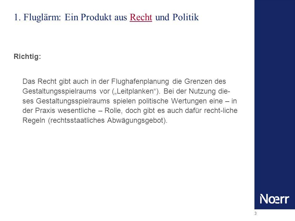 1. Fluglärm: Ein Produkt aus Recht und Politik