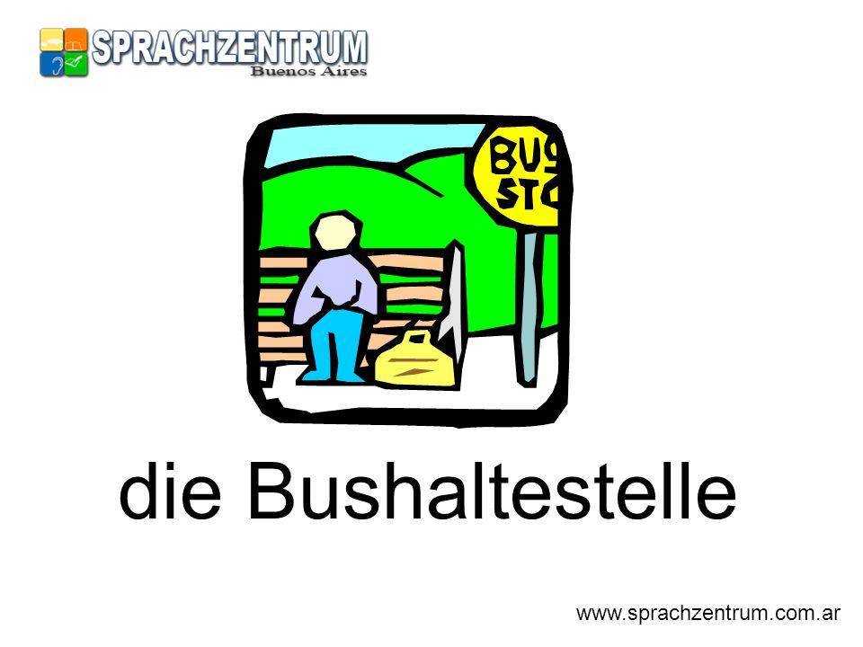 die Bushaltestelle www.sprachzentrum.com.ar