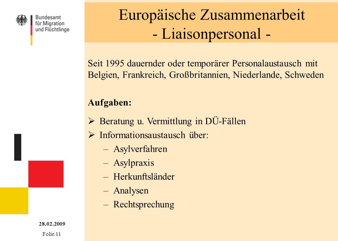 Europäische Zusammenarbeit - Liaisonpersonal -