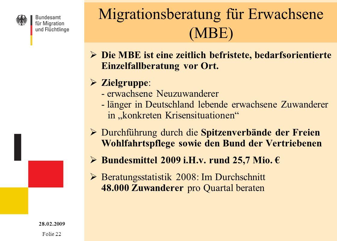Migrationsberatung für Erwachsene (MBE)