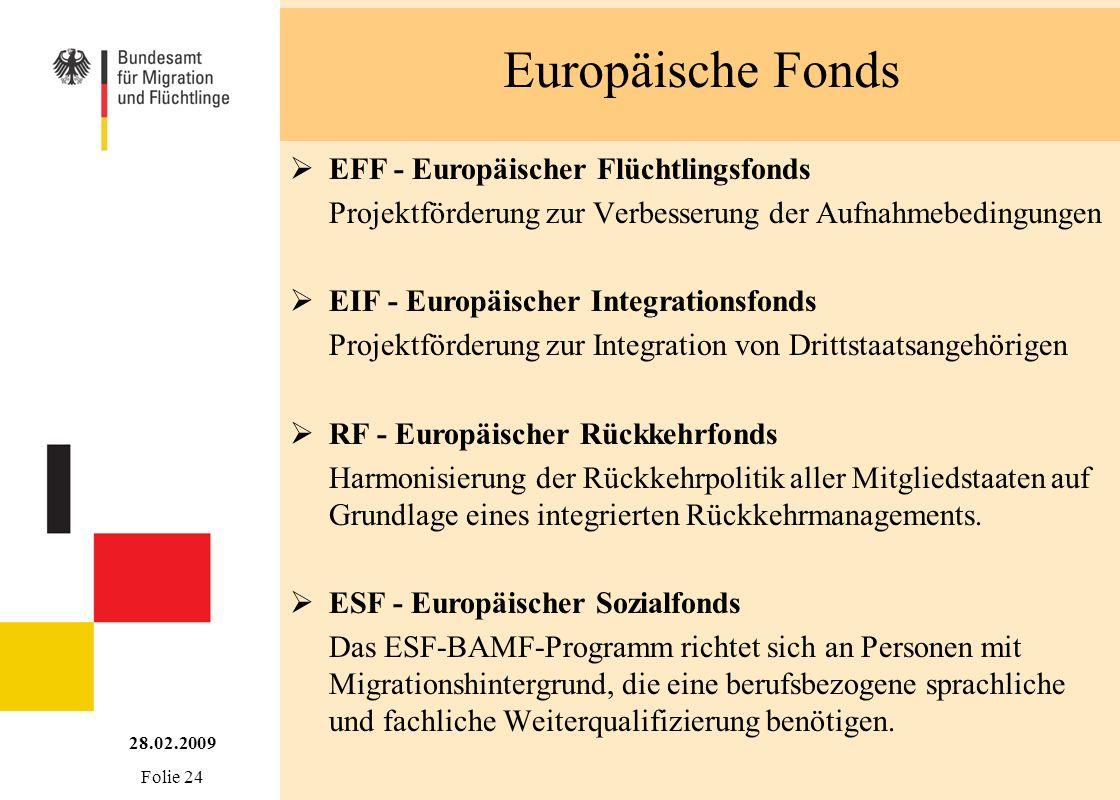 Europäische Fonds EFF - Europäischer Flüchtlingsfonds