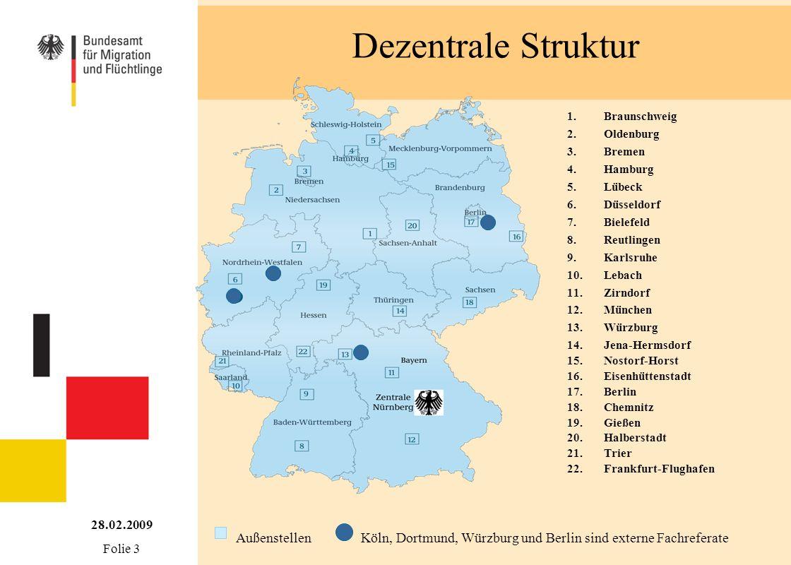 Köln, Dortmund, Würzburg und Berlin sind externe Fachreferate