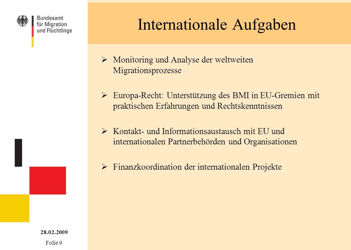Internationale Aufgaben