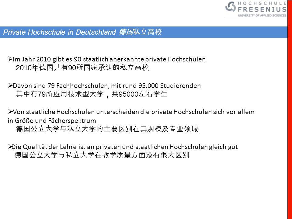 Private Hochschule in Deutschland 德国私立高校