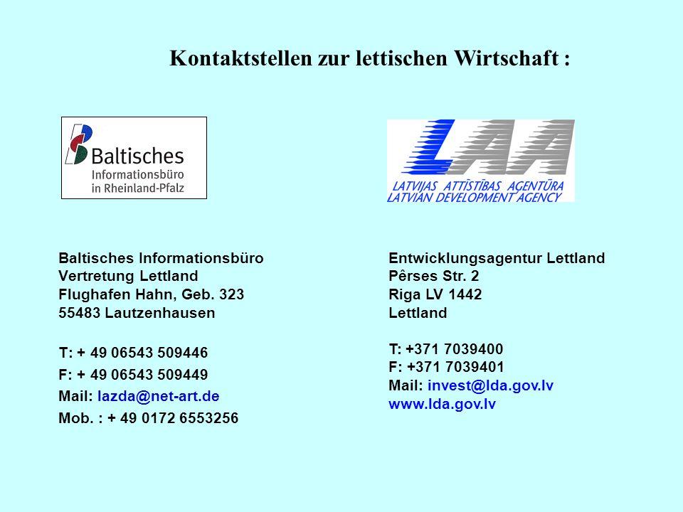 Kontaktstellen zur lettischen Wirtschaft :