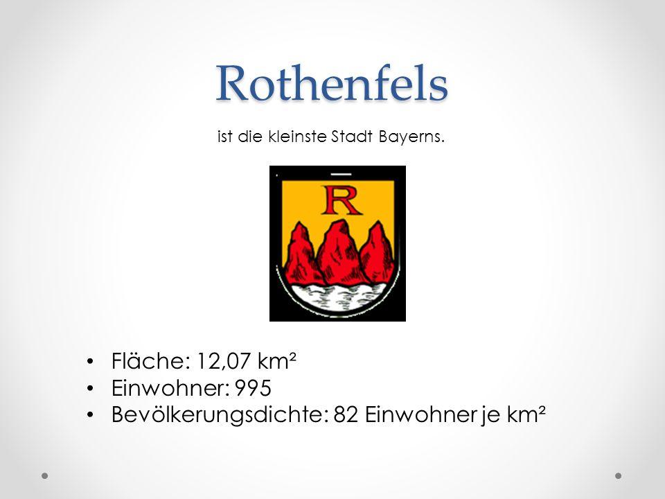 Rothenfels Fläche: 12,07 km² Einwohner: 995