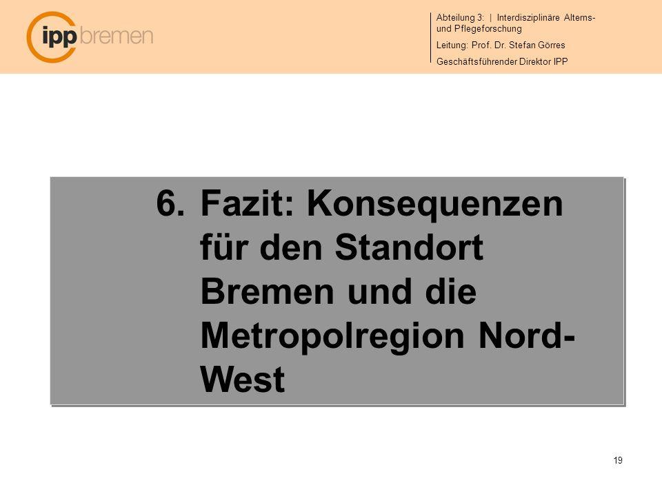 Fazit: Konsequenzen für den Standort Bremen und die Metropolregion Nord-West