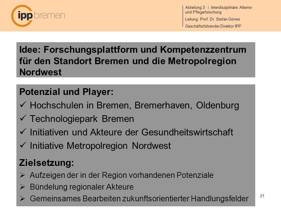 Hochschulen in Bremen, Bremerhaven, Oldenburg Technologiepark Bremen