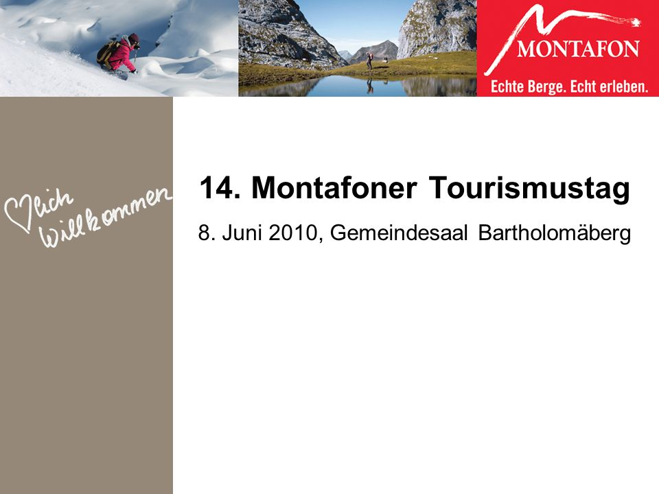 14. Montafoner Tourismustag