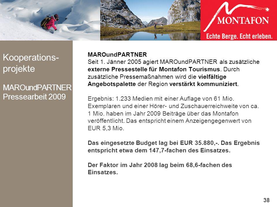 Kooperations-projekte MAROundPARTNER Pressearbeit 2009