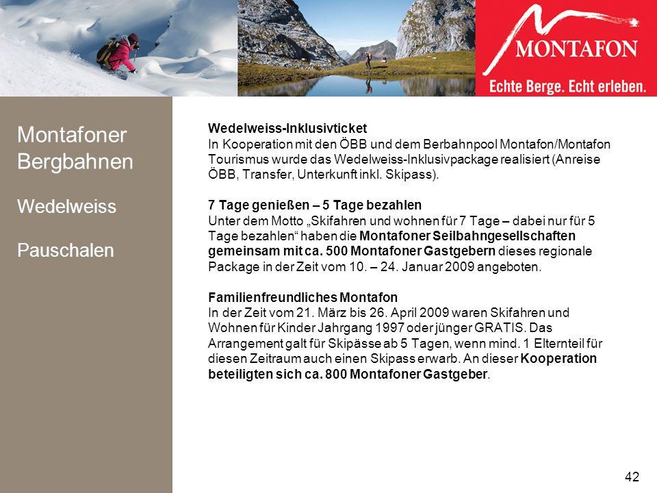 Montafoner Bergbahnen Wedelweiss Pauschalen