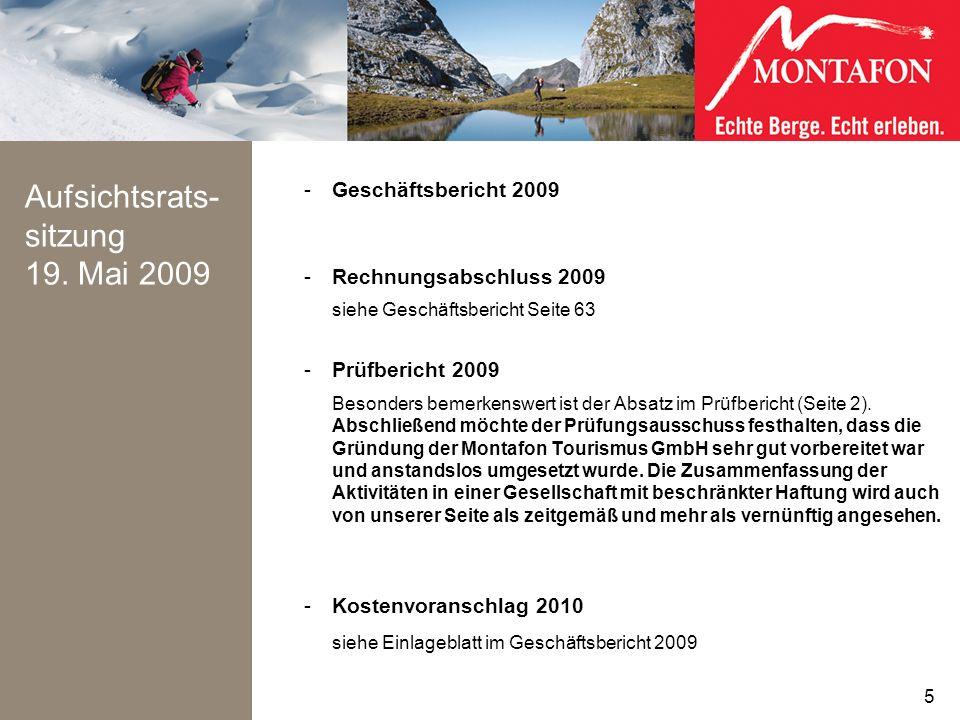 Aufsichtsrats- sitzung 19. Mai 2009