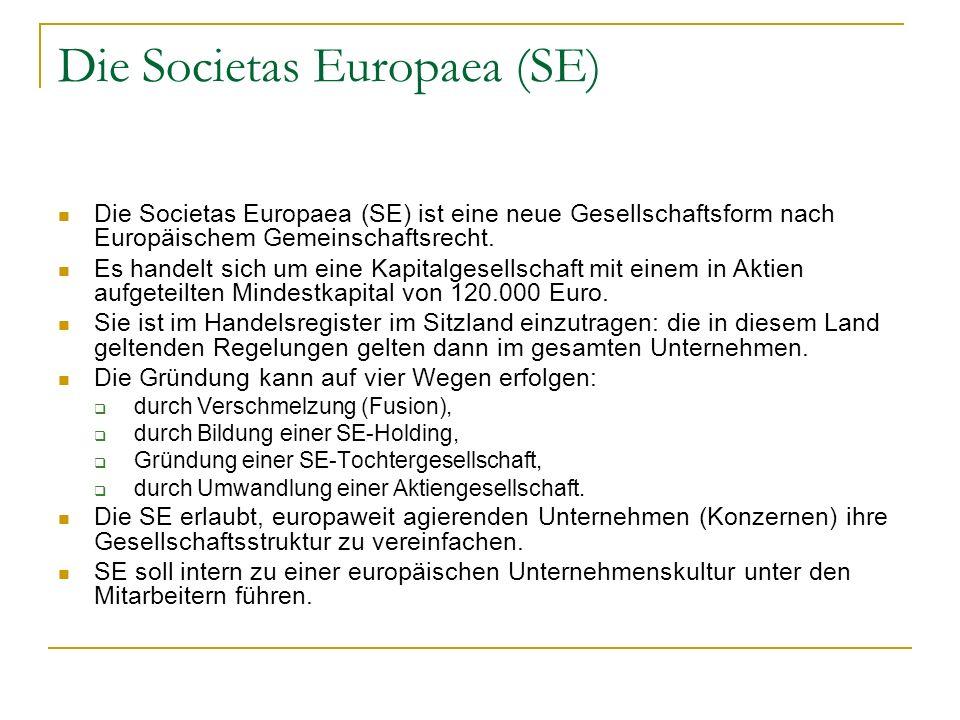 Die Societas Europaea (SE)