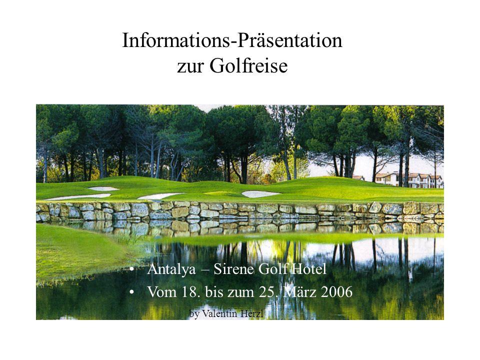 Informations-Präsentation zur Golfreise