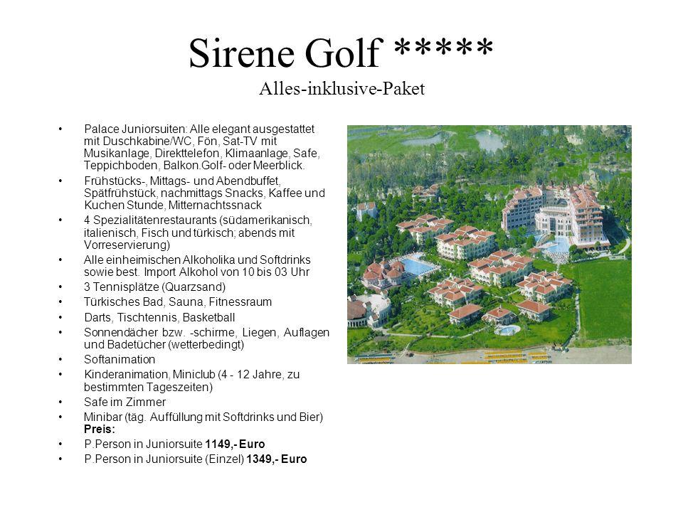 Sirene Golf ***** Alles-inklusive-Paket