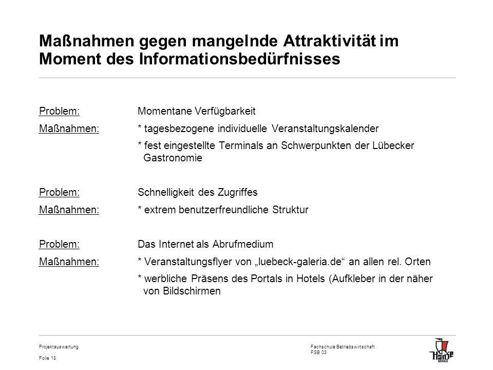 Maßnahmen gegen mangelnde Attraktivität im Moment des Informationsbedürfnisses