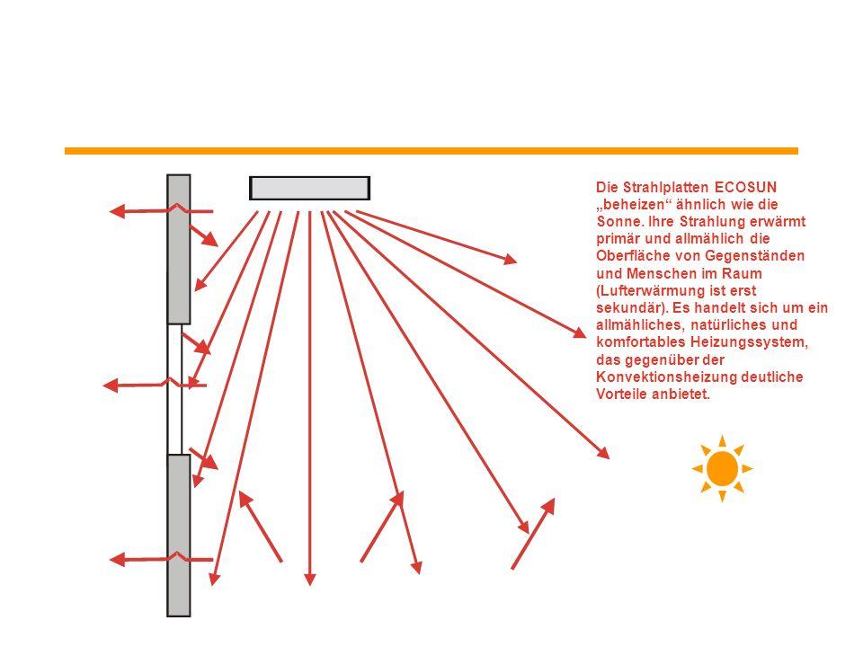 """Die Strahlplatten ECOSUN """"beheizen ähnlich wie die Sonne"""