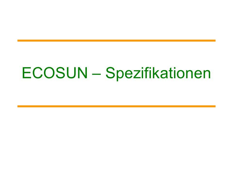 ECOSUN – Spezifikationen