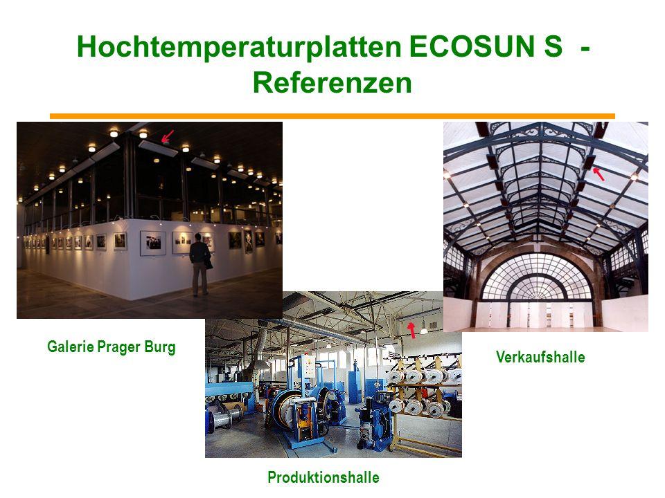 Hochtemperaturplatten ECOSUN S - Referenzen