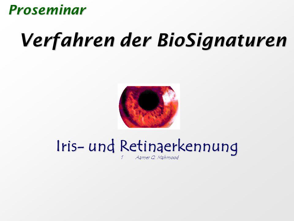 Iris- und Retinaerkennung
