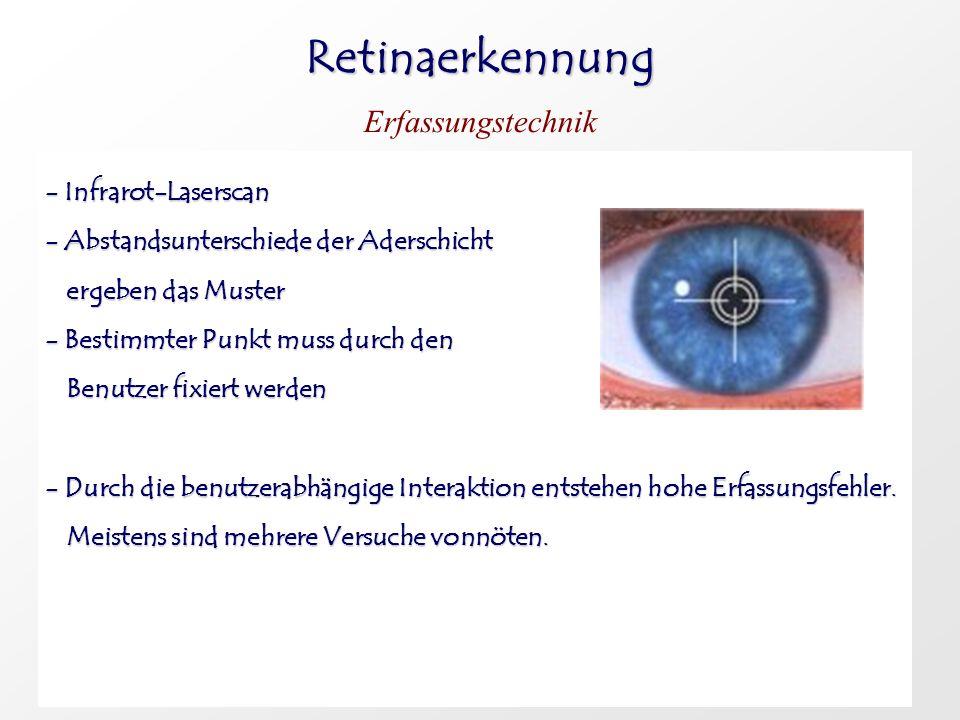 Retinaerkennung Erfassungstechnik - Infrarot-Laserscan