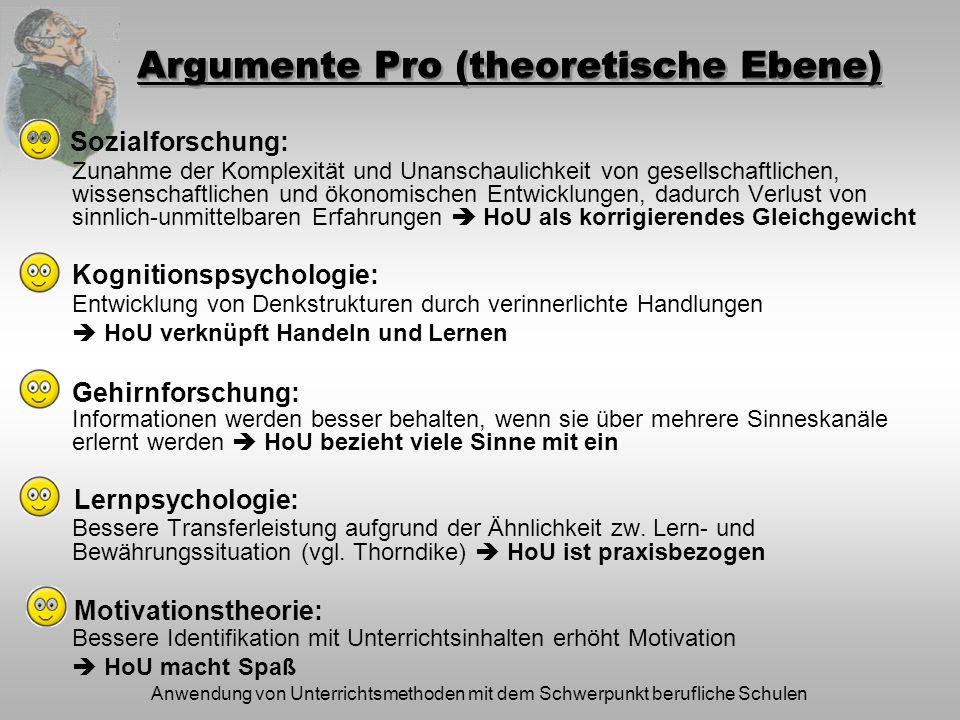 Argumente Pro (theoretische Ebene)