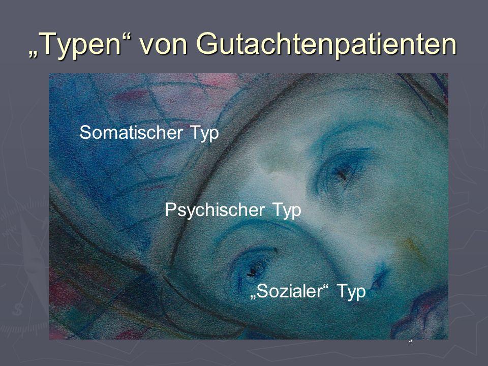 """""""Typen von Gutachtenpatienten"""