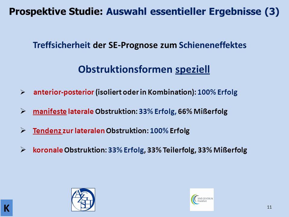 Prospektive Studie: Auswahl essentieller Ergebnisse (3)