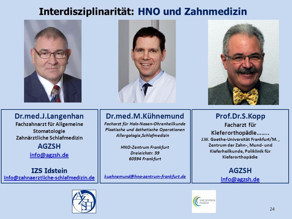 Interdisziplinarität: HNO und Zahnmedizin