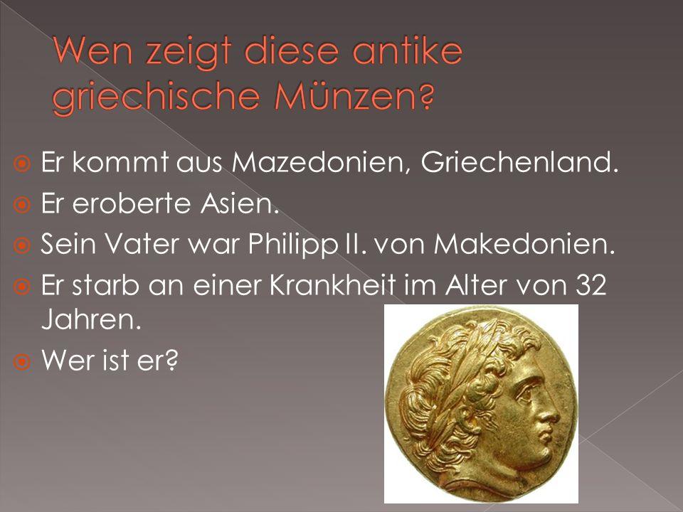 Wen zeigt diese antike griechische Münzen