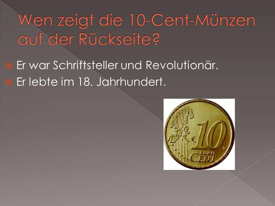 Wen zeigt die 10-Cent-Münzen auf der Rückseite